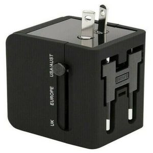 ALL IN ONE TRAVEL ADAPTER WITH DUAL USB
