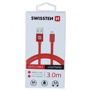 DATA CABLE SWISSTEN TEXTILE USB / LIGHTNING 3.0 M