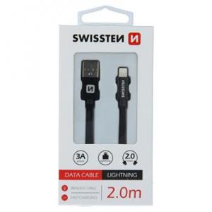 DATA CABLE SWISSTEN TEXTILE USB / LIGHTNING 2.0 M