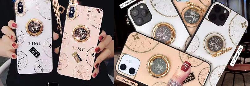 luxury clock phone back case